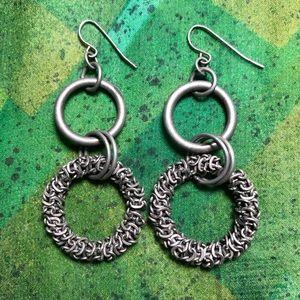 Double hoop earrings.